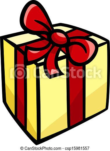Christmas Or Birthday Gift Clip Art Cartoon Illustration Of