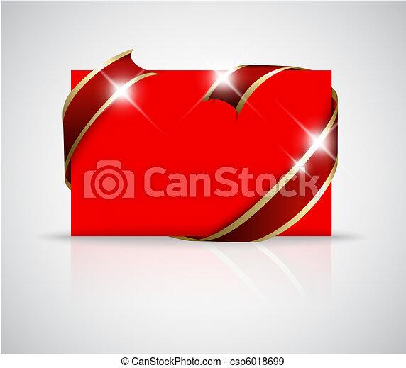 Christmas or wedding card - csp6018699