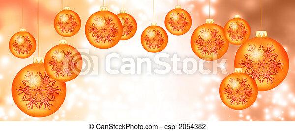 Christmas orange balls - csp12054382
