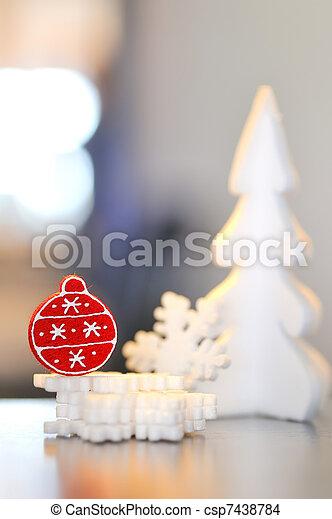 christmas ornament - csp7438784