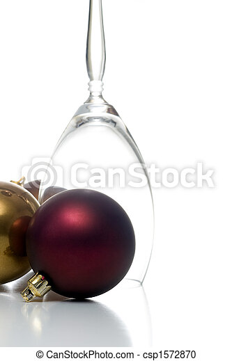 christmas ornament with champagne glass csp1572870