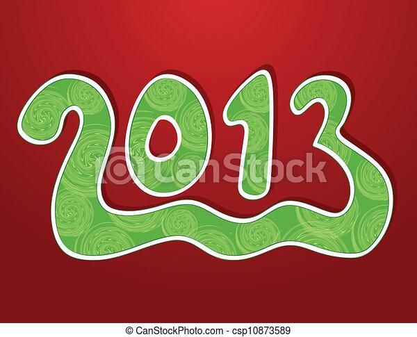 Christmas ornamental background 2013. Vector - csp10873589