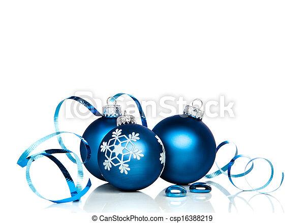 Christmas Ornaments and Ribbon - csp16388219