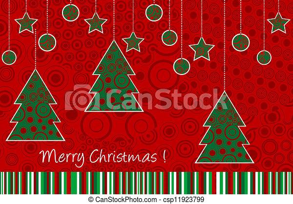 Christmas ornaments card - csp11923799
