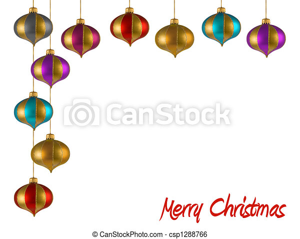christmas ornaments frame csp1288766