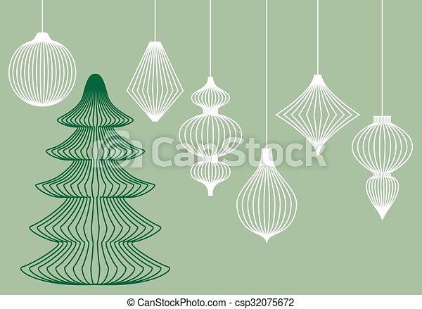 Christmas Ornaments Vector.Christmas Ornaments Vector Set