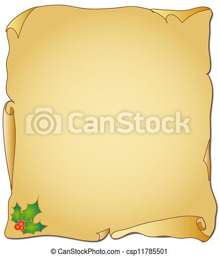 Christmas Parchment - csp11785501