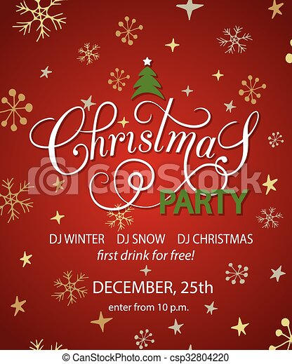 Christmas Graphics Background.Christmas Party Background Design Template