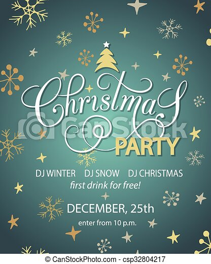 Christmas Party Background Design Template Christmas Party Banner