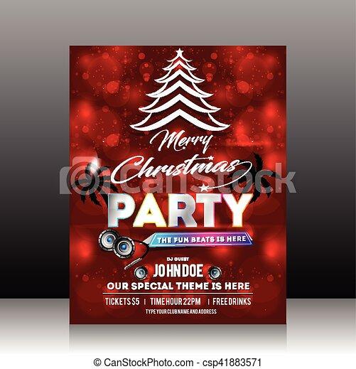 christmas party flyer design csp41883571