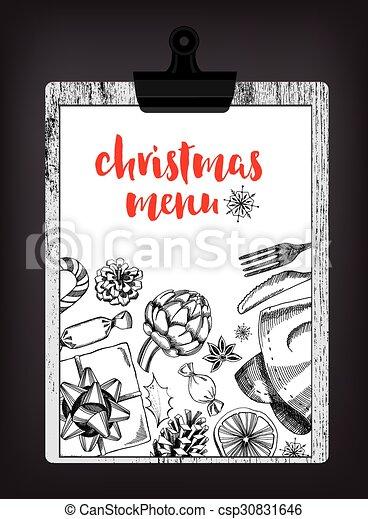 Christmas party invitation restaurant food flyer christmas party vector christmas party invitation restaurant food flyer csp30831646 stopboris Images