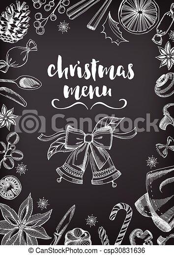 Christmas party invitation restaurant food flyer christmas party vector christmas party invitation restaurant food flyer csp30831636 stopboris Images
