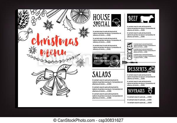Christmas party invitation restaurant food flyer christmas party vector christmas party invitation restaurant food flyer csp30831627 stopboris Images