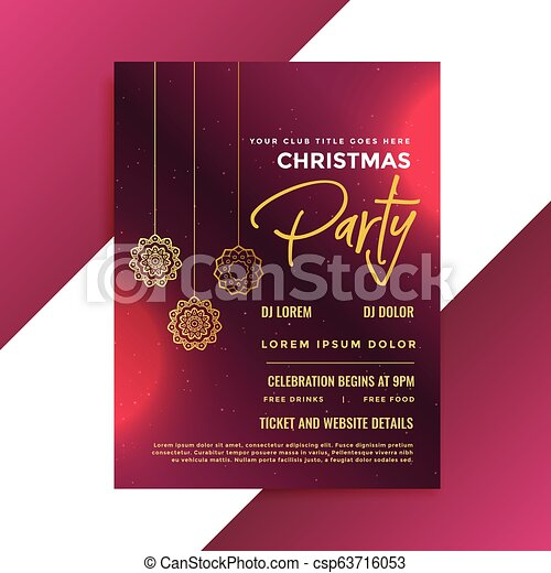 Christmas Invitation Template from comps.canstockphoto.com