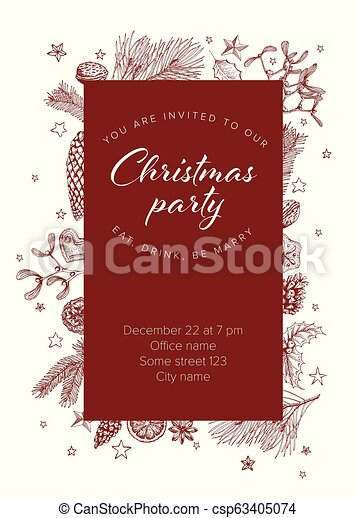 Christmas Party Invitation Template.Christmas Party Invitation Template