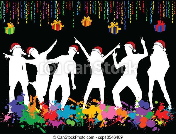 Christmas Party Pictures Clip Art.Christmas Party Illustrations And Clip Art 200 587 Christmas Party