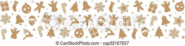 christmas pattern decoration elements background - csp32167637