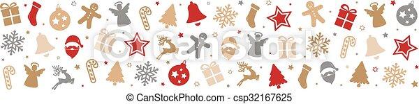 christmas pattern decoration elements background - csp32167625