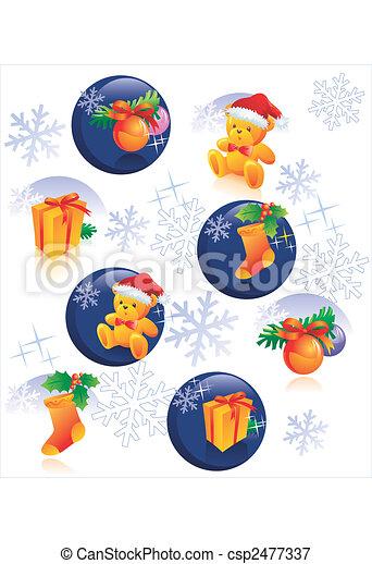 Christmas pattern decoration - csp2477337