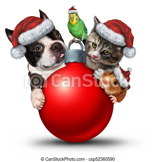 Cute Christmas Puppies.Christmas Pets Decoration