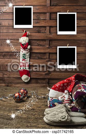 Christmas photo frames postcards - csp31742165
