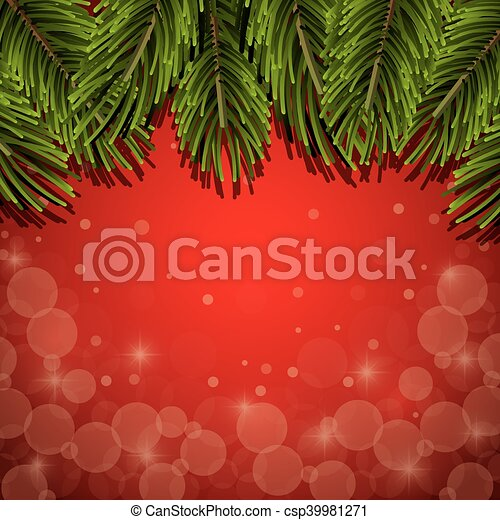 Christmas Pine Leaves Background