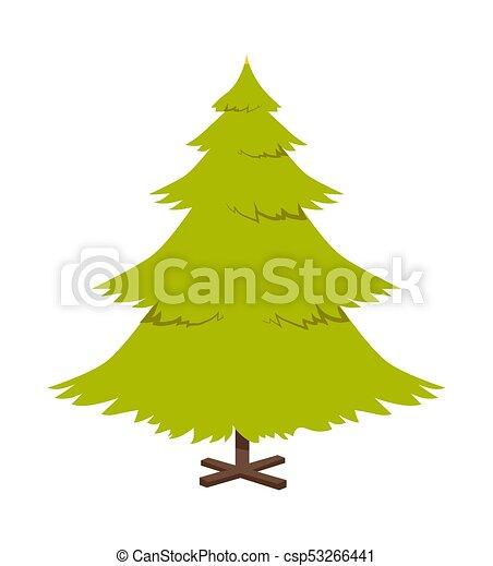 Christmas Pine Tree Poster Vector Illustration Christmas Pine Tree