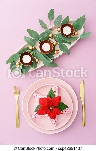 Christmas place setting - csp42691437