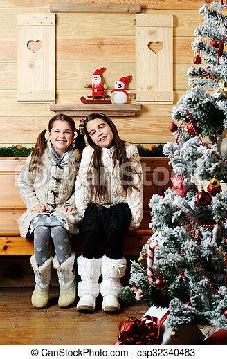 Christmas portrait - csp32340483