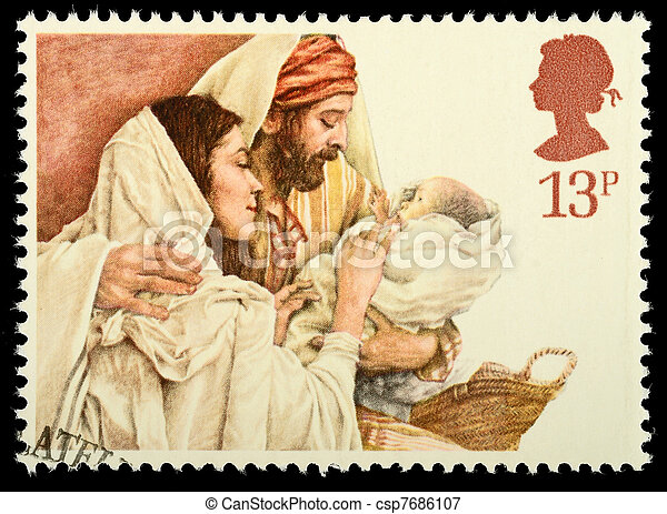 Christmas Postage Stamp - csp7686107