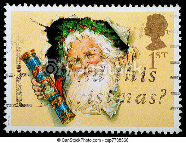 Christmas Postage Stamp - csp7738366