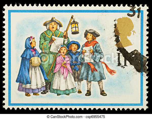 Christmas Postage Stamp - csp6955475