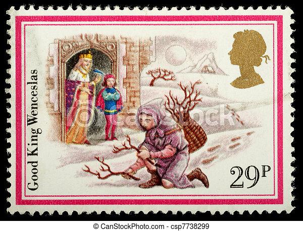Christmas Postage Stamp - csp7738299