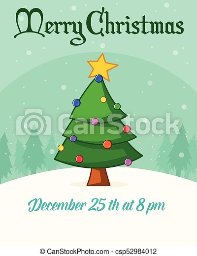 Christmas Poster Scenery Background Collection Vector Illustration