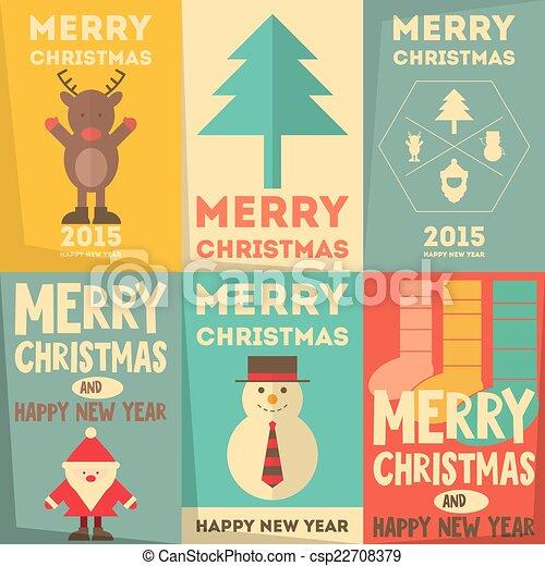 Christmas Posters Set