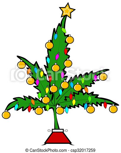christmas pot leaf tree illustration depicting a marijuana leaf decorated with christmas lights and ornaments https www canstockphoto com christmas pot leaf tree 32017259 html