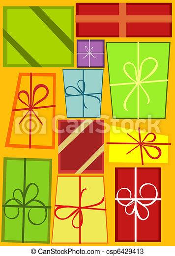 Christmas present background - csp6429413