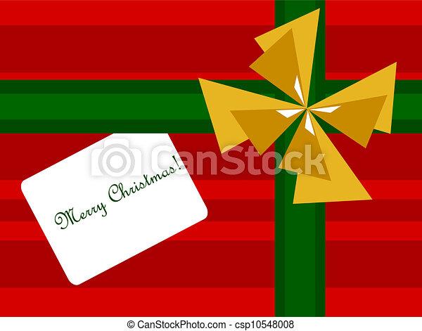 Christmas present background - csp10548008