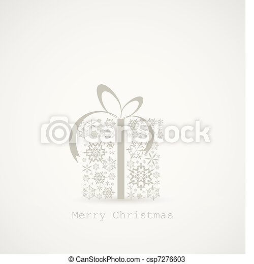 Christmas present box made from snowflakes - csp7276603
