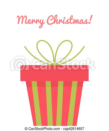 Christmas present greeting card - csp42614657
