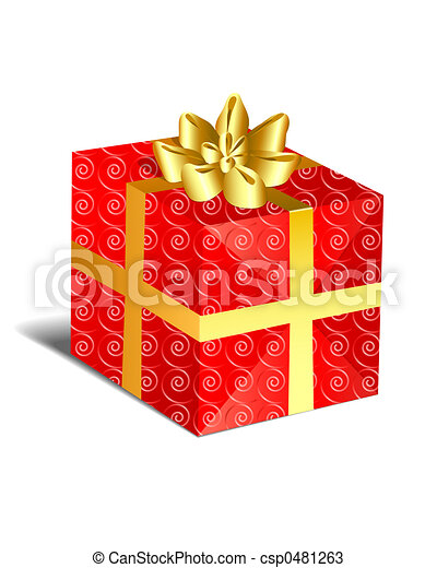 Christmas Present - Red - csp0481263