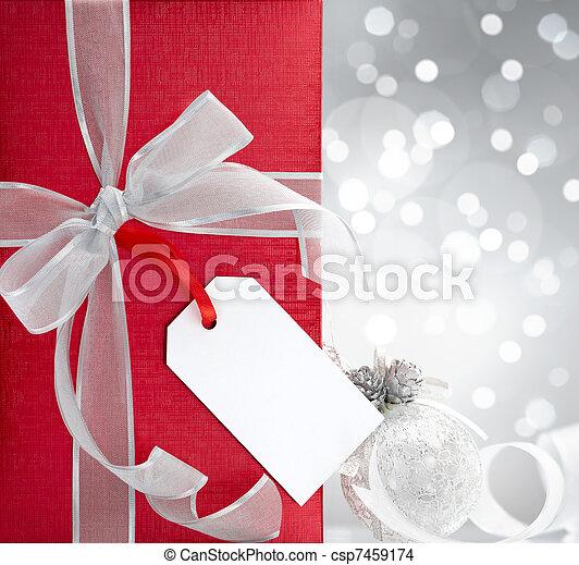 christmas present - csp7459174