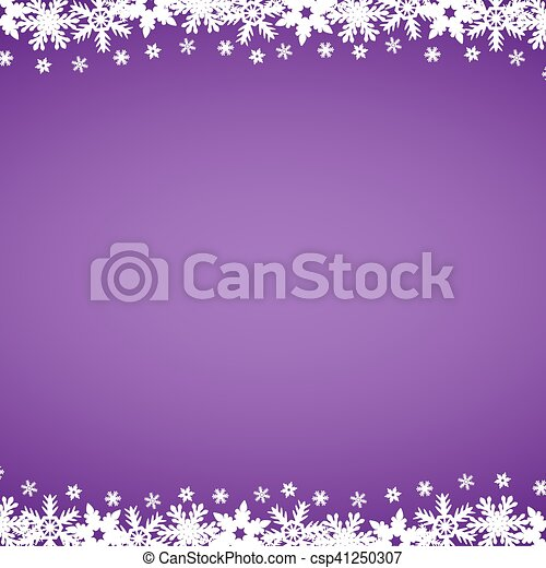 Christmas purple background with snowflakes - csp41250307