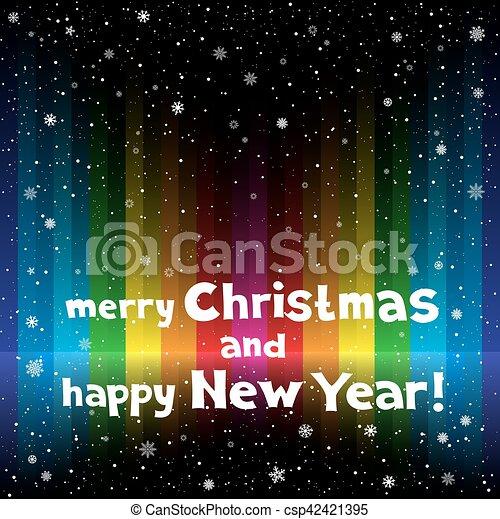 Christmas rainbow stripe background - csp42421395