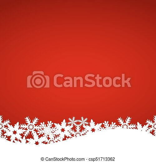Christmas red background with snowflakes - csp51713362