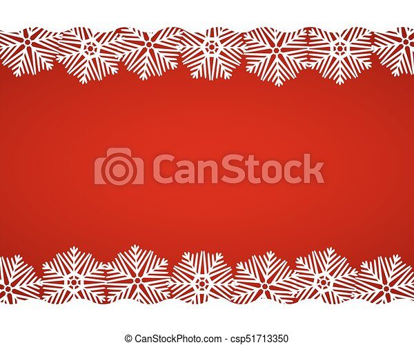 Christmas red background with snowflakes - csp51713350