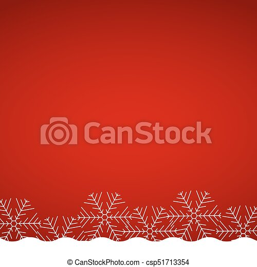 Christmas red background with snowflakes - csp51713354