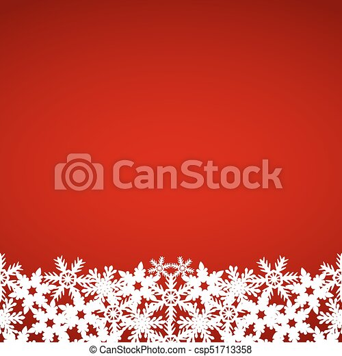 Christmas red background with snowflakes - csp51713358