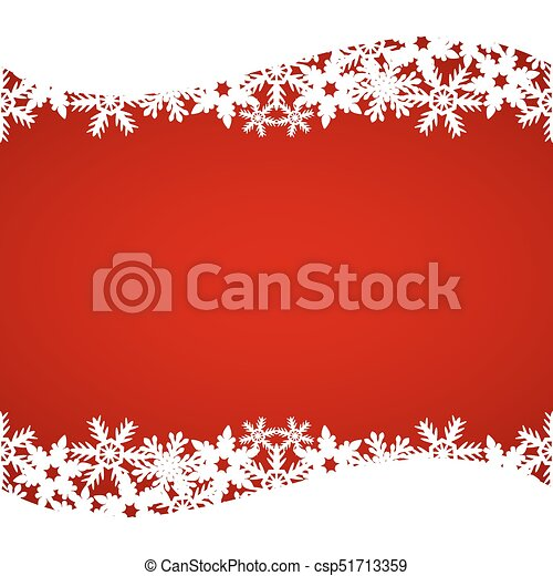 Christmas red background with snowflakes - csp51713359