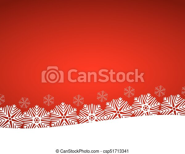 Christmas red background with snowflakes - csp51713341